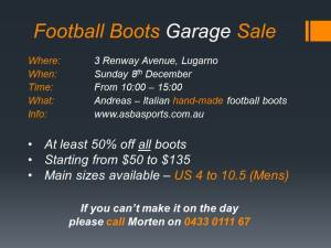 Football Boots Garage Sale
